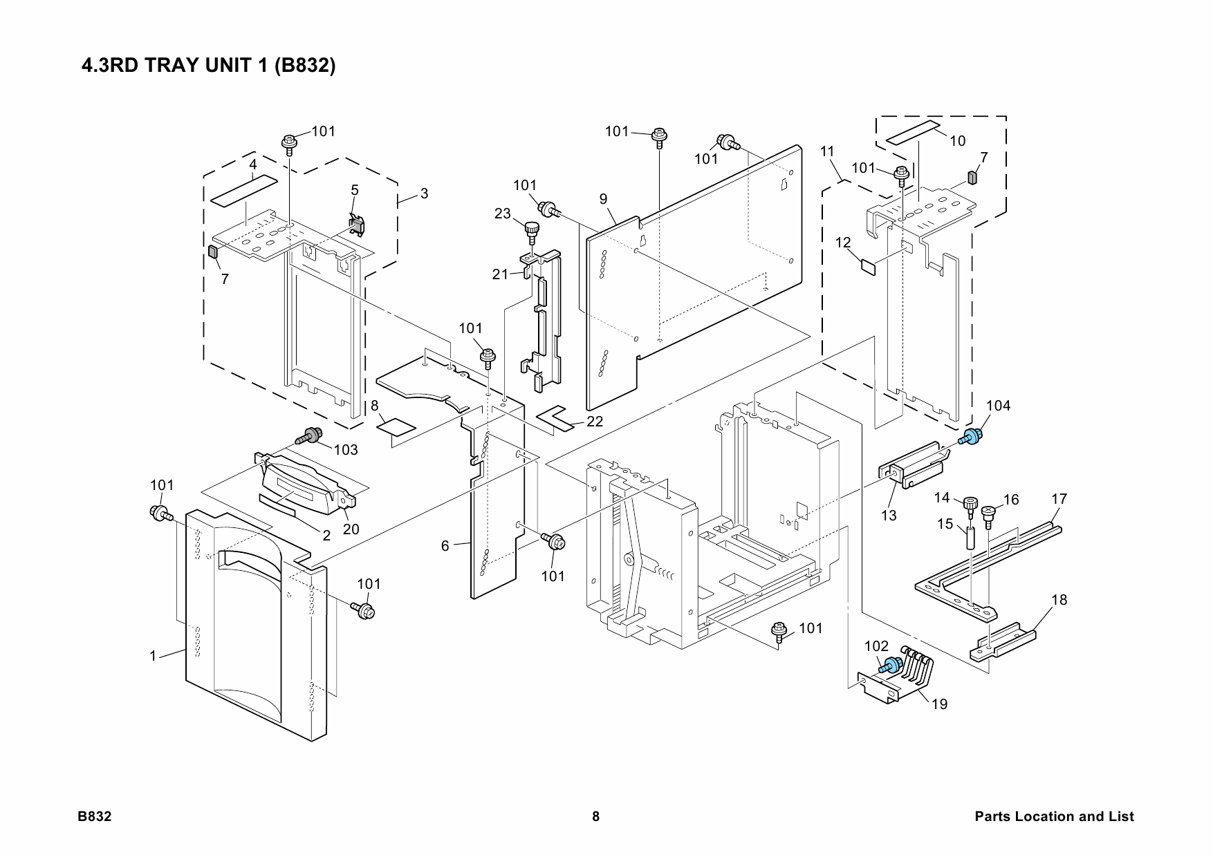 RICOH Options B832 LCIT-RT5000 Parts Catalog PDF download